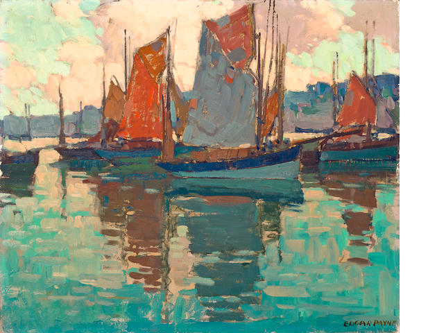 Edgar Payne (1883-1947) The Harbor, Doarnenez, France 20 x 24in