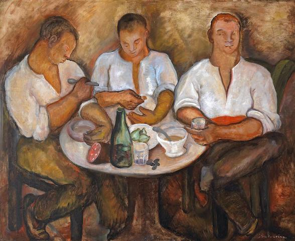 Jane Berlandina (American, 1898-1970) The Feast, c. 1930 32 x 39 1/2in