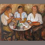 Jane Berlandina (American, 1898-1970) The Feast, c. 1930 32 x 39 1/2in