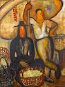 Jane Berlandina (American, 1898-1970) Market in Nice, c. 1930 45 3/4 x 35in