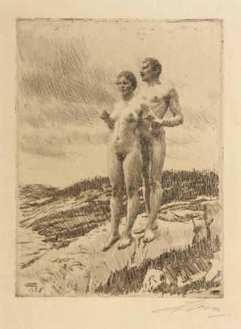 Anders Zorn (Swedish, 1860-1920); The Two;
