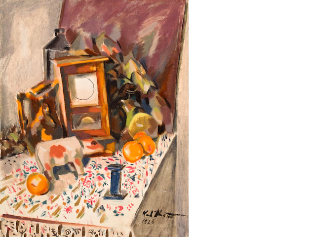 Otto Karl Knaths (American, 1891-1971) Still life 29 1/2 x 23 1/2in unframed