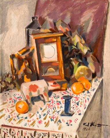 Otto Karl Knaths (American, 1891-1971) Still life 29 1/2 x 23 1/2in unframed