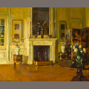 Walter Gay (American 1856-1937) Interior with Fireplace 21 1/2 x 25 7/8in