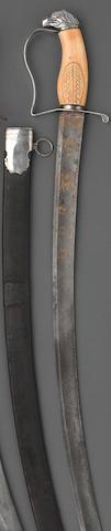 A Philadelphia silver-mounted eagle pommel officer's saber