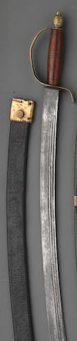 An American officer's Revolutionary War era short saber