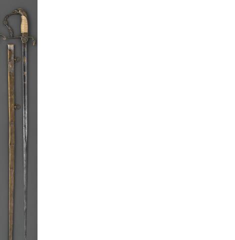 An American eagle pommel infantry officer's sword