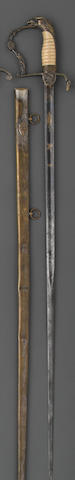 An American eagle pommel infantry officer's sword