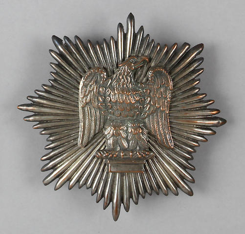 A U.S. Pattern 1833 militia dragoon helmet plate