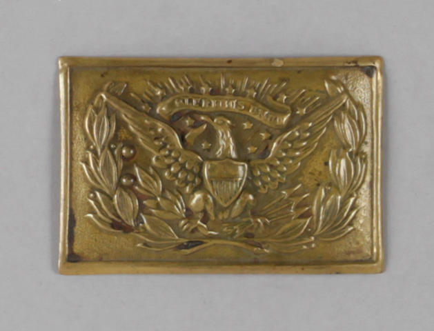 An early U.S. Model 1851 die-stamped eagle buckle