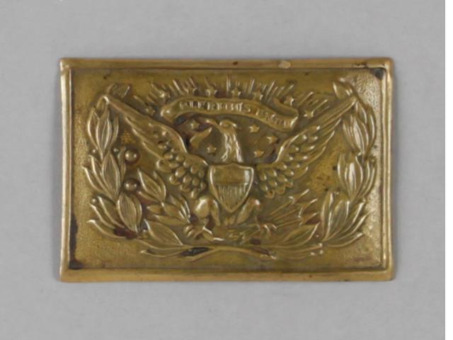 An early U.S. Model 1851 die-stamped eagle buckle