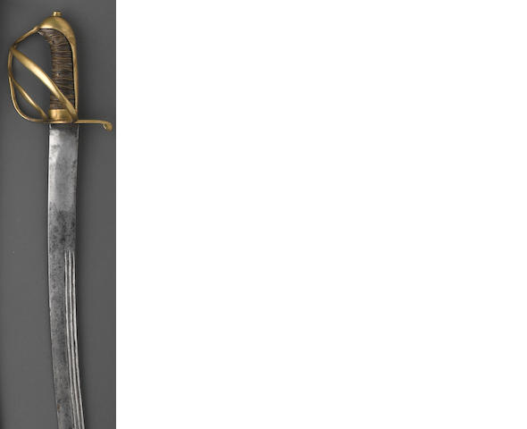 An American Revolutionary War period horseman's saber