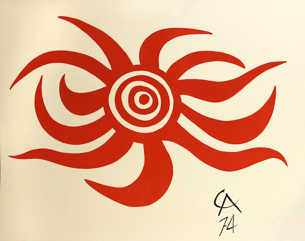 Alexander Calder (American, 1898-1976); Flying Colors for Braniff Airlines;