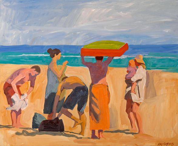 Raymond Cuevas (American, born 1932) At the Beach, 2005 16 x 20in