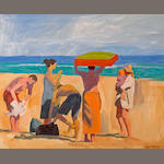 Raymond Cuevas (American, born 1932) At the Beach, 2005 16 x 20in