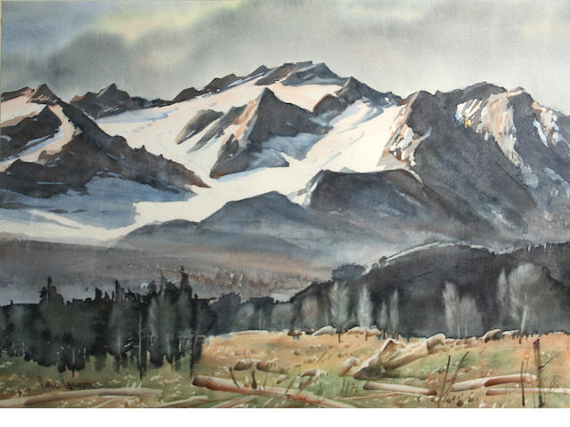 Paul Lauritz, Snoww capped mountains, wc