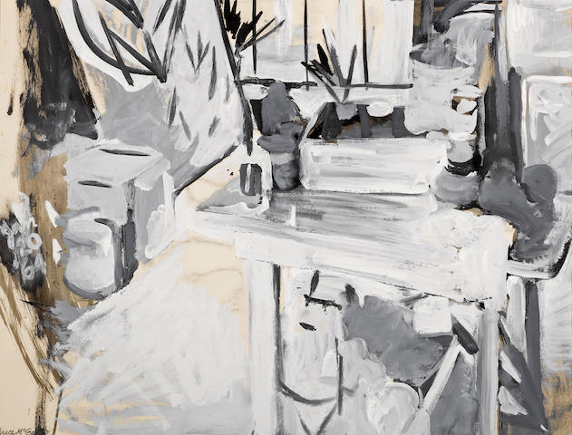Bruce McGaw (American, born 1935) Studio Still Life, 1964 20 x 26in