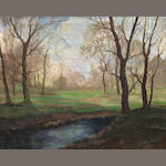 George S Bickerstaff, Landscape, oil/canvas, 24 x 29