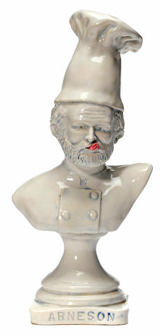 Robert Arneson (American, 1930-1992) What's Cooking Gerald? 10 x 4 1/2 x 3 1/4in