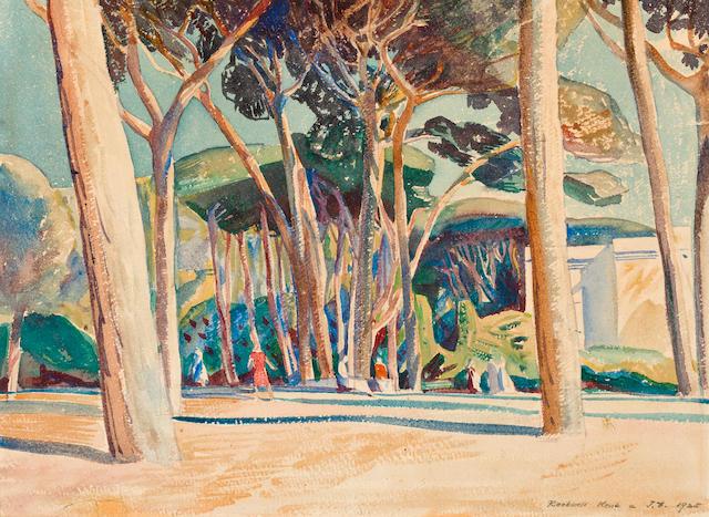 Rockwell Kent (American, 1882-1971) Landscape 9 x 12 1/4in