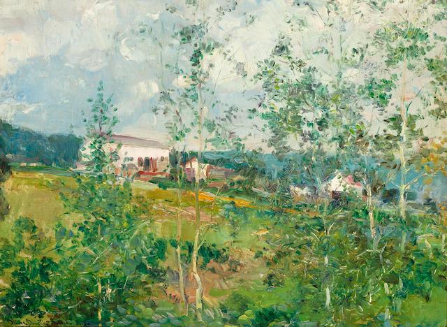 Oliver Dennett Grover (American, 1861-1927) Hillside in Summer 12 x 16in