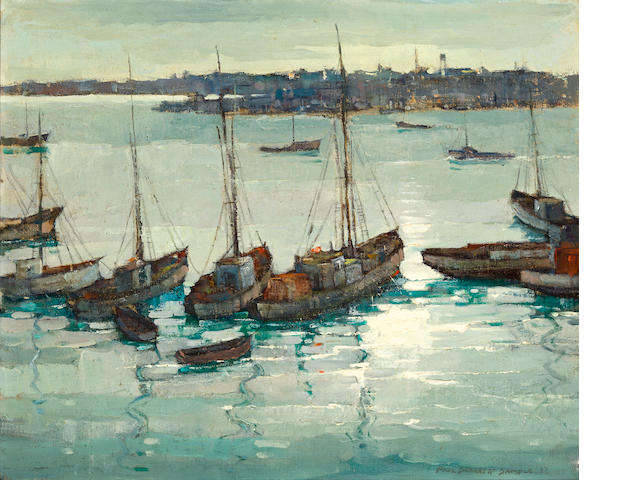 Paul Sample, Harbor scene, 20 x 24
