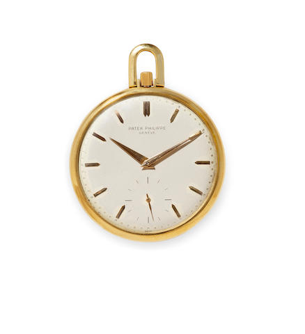 Patek Philippe. A fine 18K gold open face dress watchRef:715, Case No.428478, Movement No.892718, circa 1955