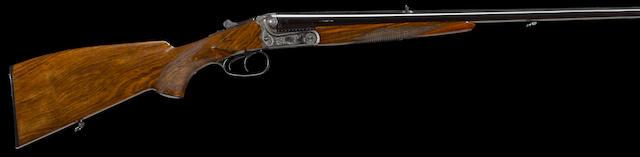 A cased 9.3x74Rmm Merkel Model 140-1.1 boxlock double rifle