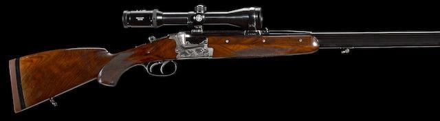 An 8x57 Merkel Model 221-E boxlock over/under double rifle