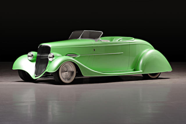 "Built by noted hot rodder Rick Dore, the matching car to lot 336, the 2005 Chopper,1934 Ford Model 40 Custom Roadster Hotrod ""Flashback""  Chassis no. 181204495"