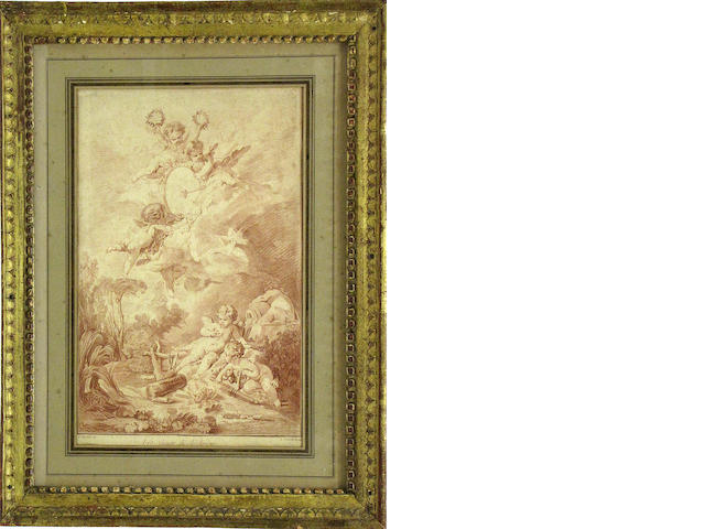 A French print of covorting putti: Les Jeux de l'Amour