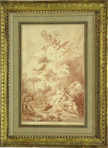 A French print of cavorting putti: Les Jeux de l'Amour