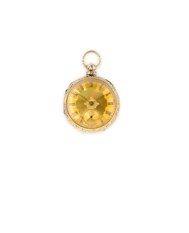 Jos. Johnson, Liverpool. A gold open face fusee lever watchNo.5945, second quarter 19th century