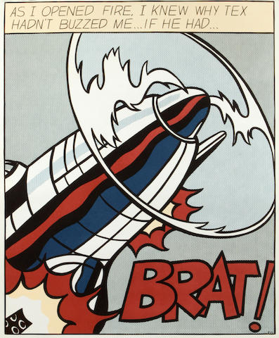 After Roy Lichtenstein (American, 1923-1997); As I Opened Fire (Triptych); (3)