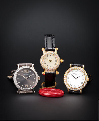 Cartier. A fine 18K gold lady's watch set with diamondsDiablo, case no. 89885