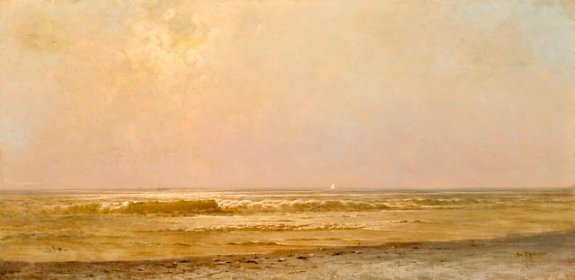 William Trost Richards (American, 1833-1905) New Jersey coast 22 x 36in