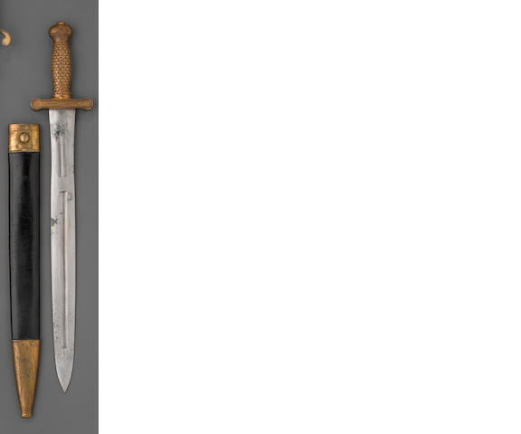 A U.S. Model 1833 foot artillery sword