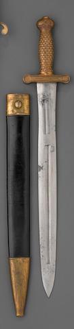 A U.S. Model 1833 foot artillery sword