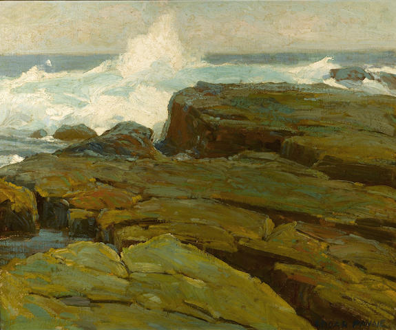 Edgar Payne (1883-1947) Rocks and sea 20 x 24in