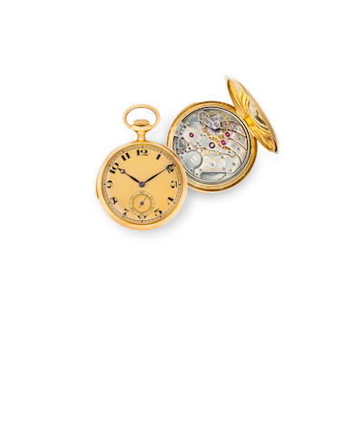 Touchon & Cie. A fine 18K gold open face minute repeating watchCase no.136458, circa 1915