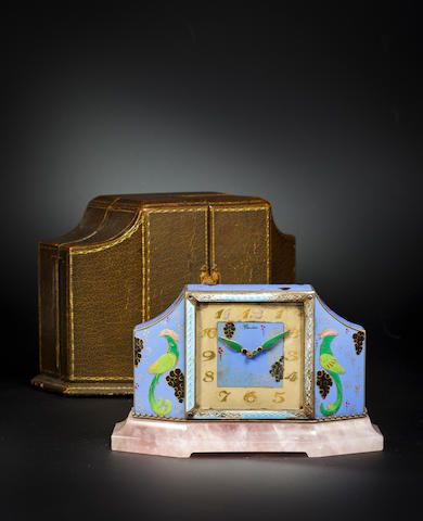 Cartier enamel clock