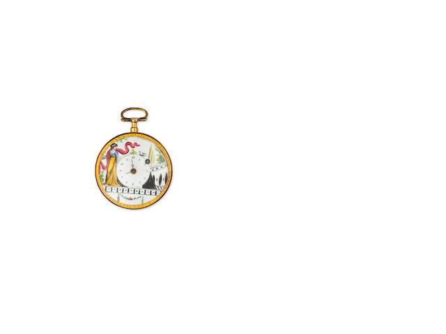 Two enamel watches
