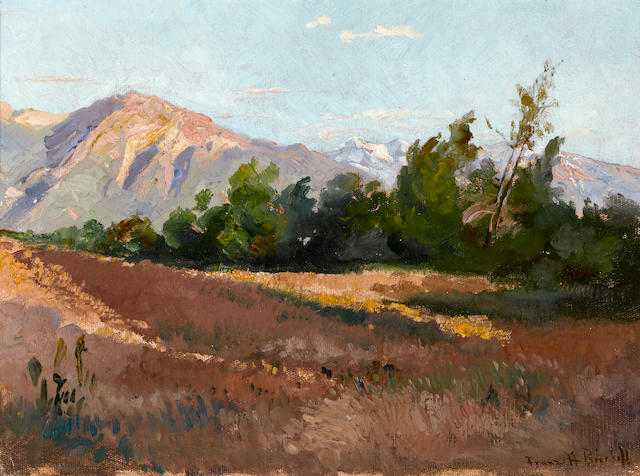 Franz Arthur Bischoff (American, 1864-1929) Along the San Gabriels 13 x 18in