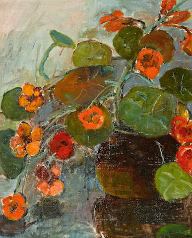 Selden Connor Gile (American, 1877-1947) Nasturtiums 18 x 15in