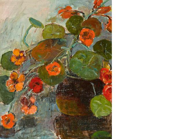 Selden Connor Gile (American, 1877-1947) Nasturtiums 18 x 15in