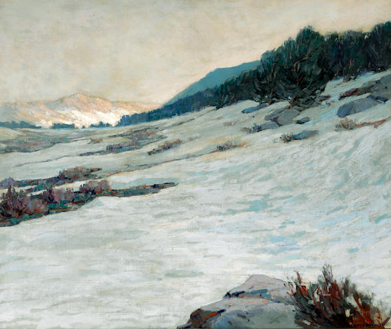 George Kennedy Brandriff (American, 1890-1936) Tioga Pass 30 x 36 1/4in