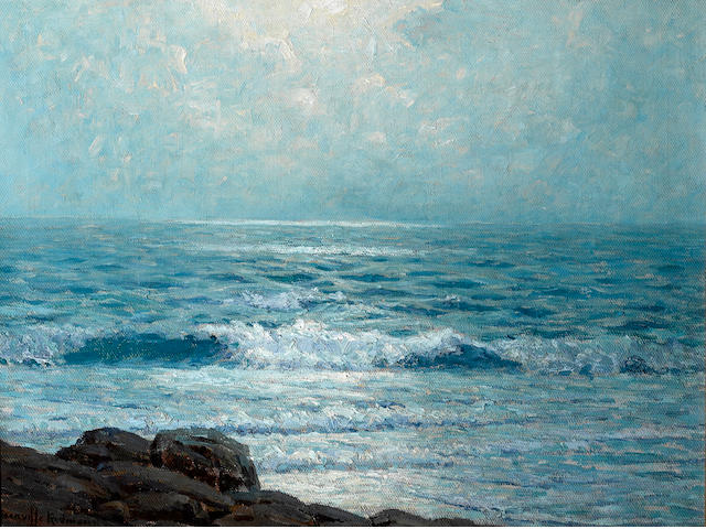 Granville Redmond (American, 1871-1935) Morning on the Pacific, 1911 12 x 16 1/4in