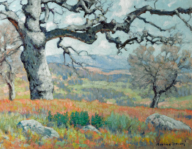 Maurice Braun (American, 1877-1941) The oak 14 x 18in