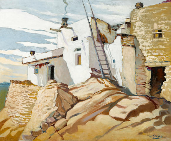 William Seltzer Rice (American, 1873-1963) The governor's house, Walpai, Arizona 22 x 27in