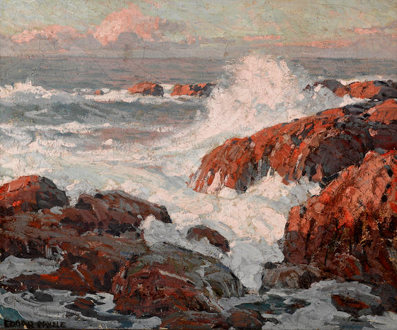 Edgar Payne (1883-1947) Crashing waves 20 x 24in